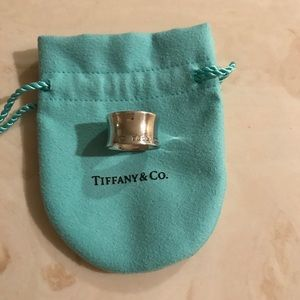 Tiffany and Co silver wide ring size 6